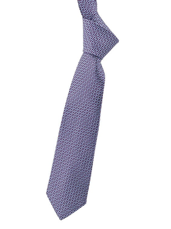 Blue and Purple Geometric Woven Silk Tie by Robert Jensen
