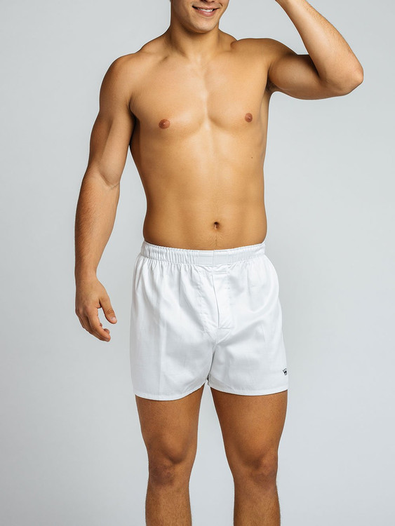 White Boxer Shorts (2 Pair) by Royal Highnies