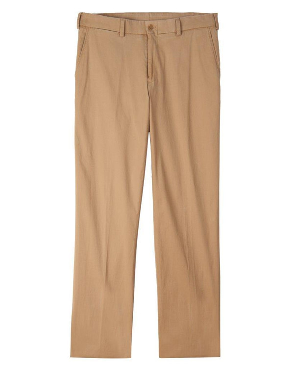 Island Twill Pant - Model M2 Standard Fit Plain Front in Sand by Bills Khakis