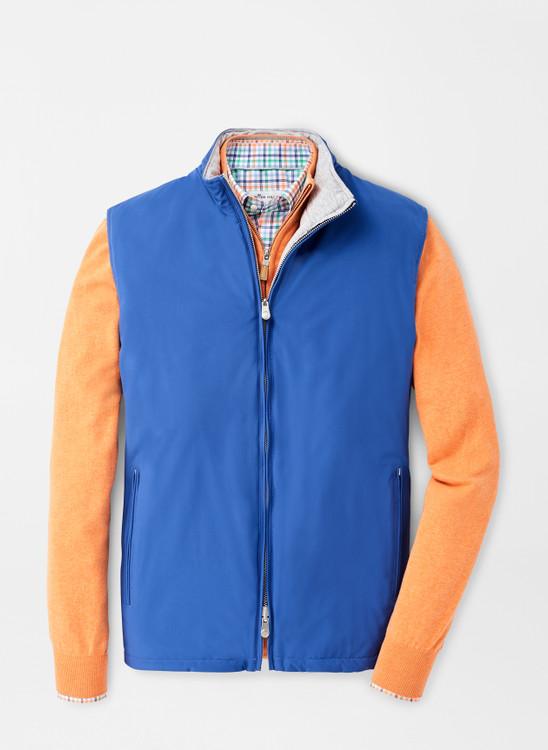 Crown Soft Reversible Vest in Blue Lapis by Peter Millar