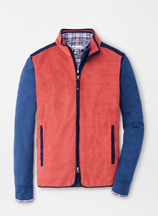 Seaside Fleece Vest in Hyannis Red by Peter Millar