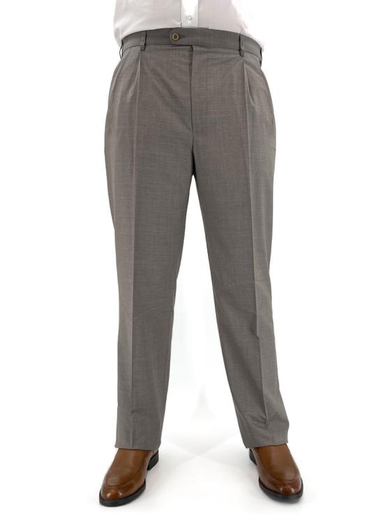 'Bennett' Super 150's Tropical Wool Trouser in Tan by Zanella