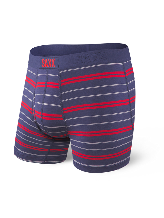 Ultra Boxer Brief in Navy Summit Stripe by SAXX Underwear Co.