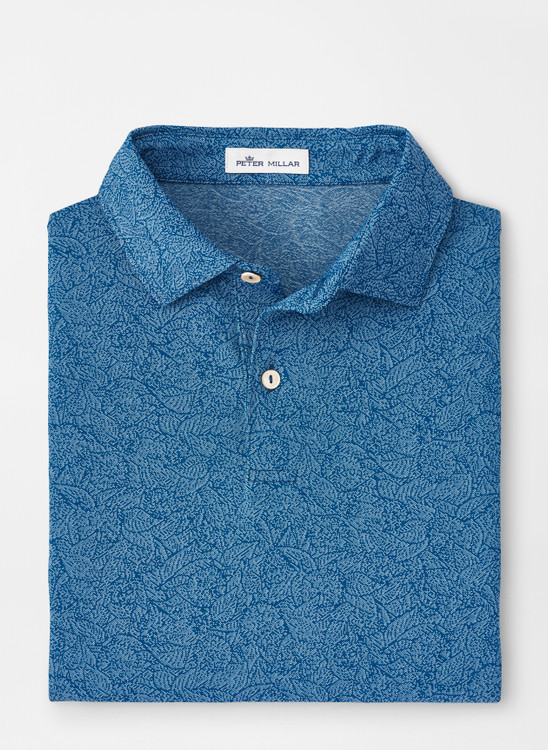 Carl Multi-Floral Performance Jacquard Polo in City Blue by Peter Millar