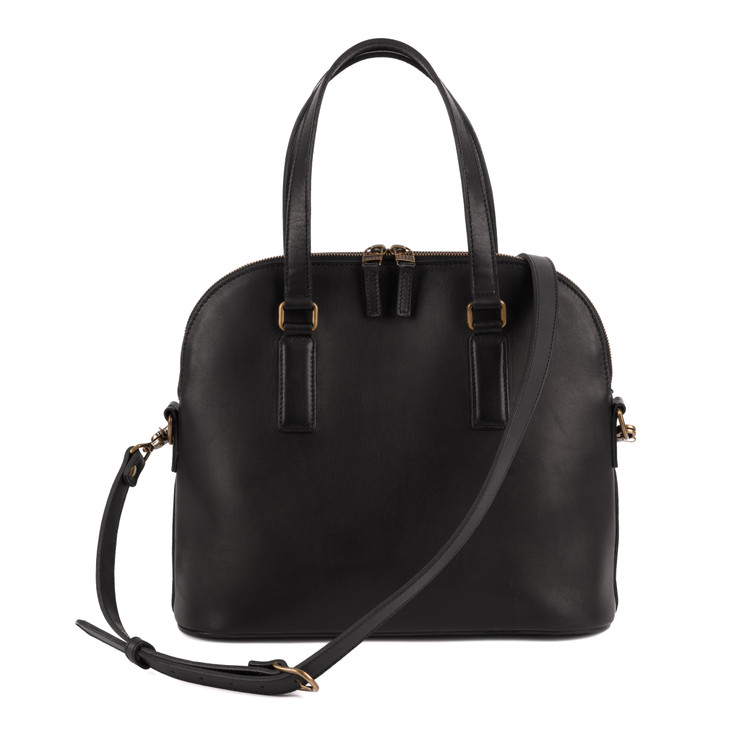 Britton Day Bag in Kireina Black by Moore & Giles
