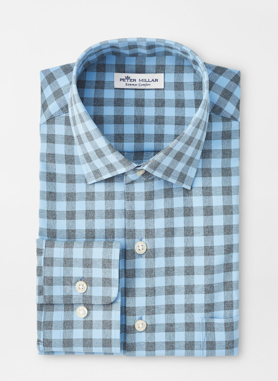 Homer Natural Touch Sport Shirt in Cottage Blue by Peter Millar