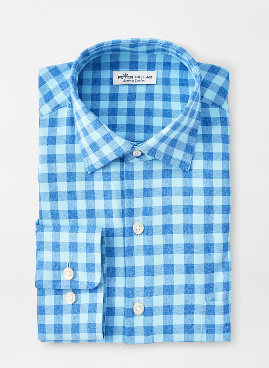 Homer Natural Touch Sport Shirt in Frost Blue by Peter Millar