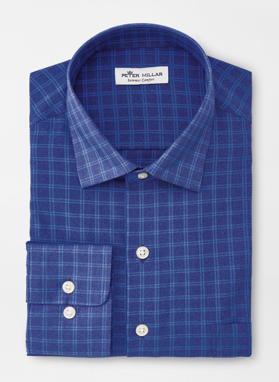 Ford Natural Touch Sport Shirt in Navy by Peter Millar