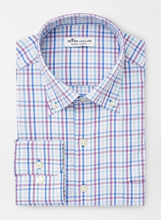 Howard Performance Sport Shirt in Cape Blue by Peter Millar