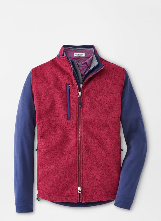Condor Sweater Fleece Vest in Pomegranate by Peter Millar