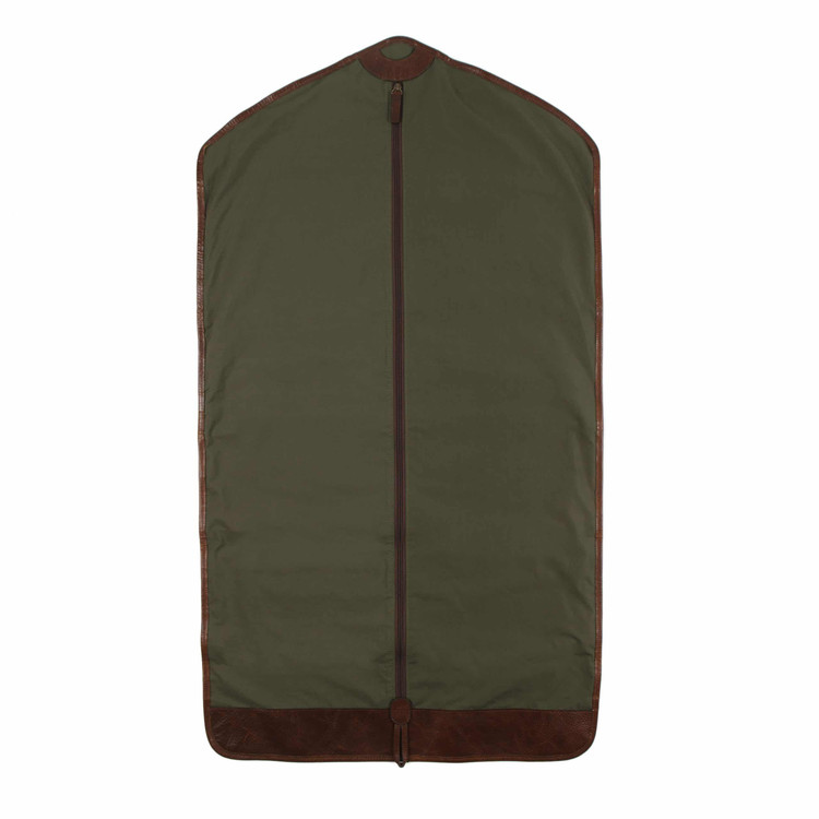 Holton Garment Sleeve in Ventile Olive & Titan Milled Brown by Moore & Giles