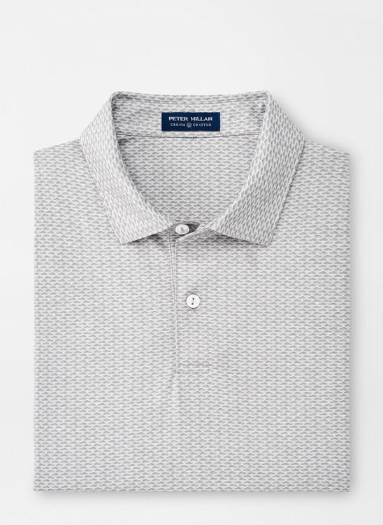 Geddes Performance Polo in Gale Grey by Peter Millar