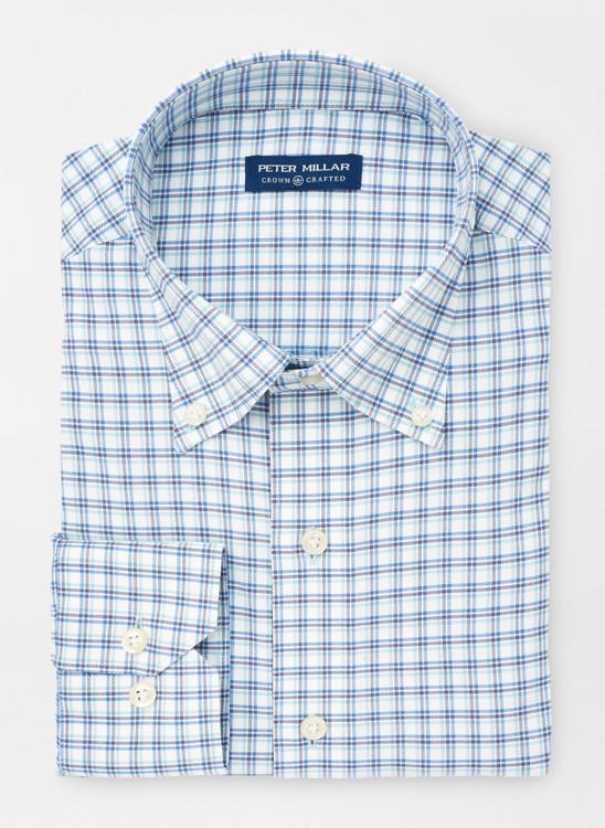 Wynton Performance Sport Shirt in Cirrus Blue by Peter Millar