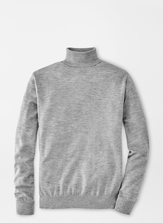 Cashmere-Silk Turtleneck in British Grey by Peter Millar