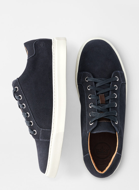 Crown Suede Sneaker in Navy by Peter Millar