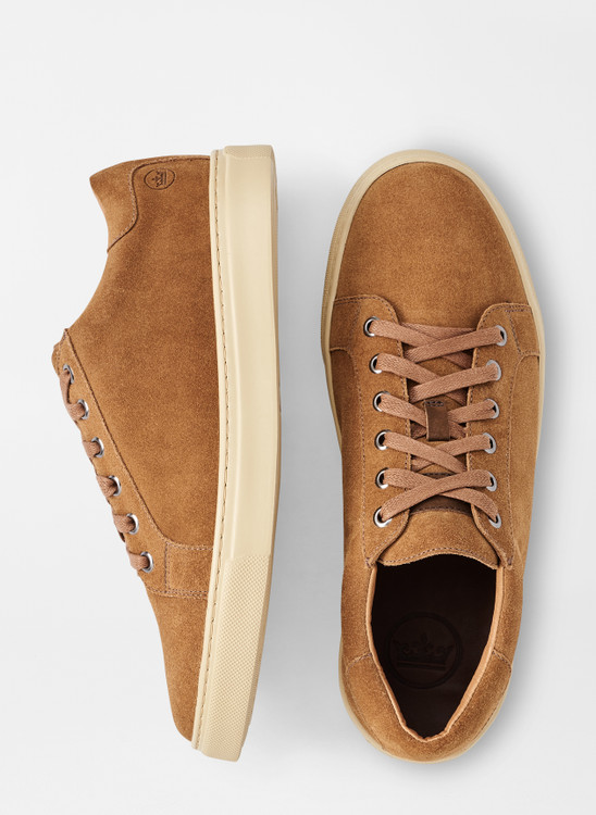 Crown Suede Sneaker in Scotch by Peter Millar