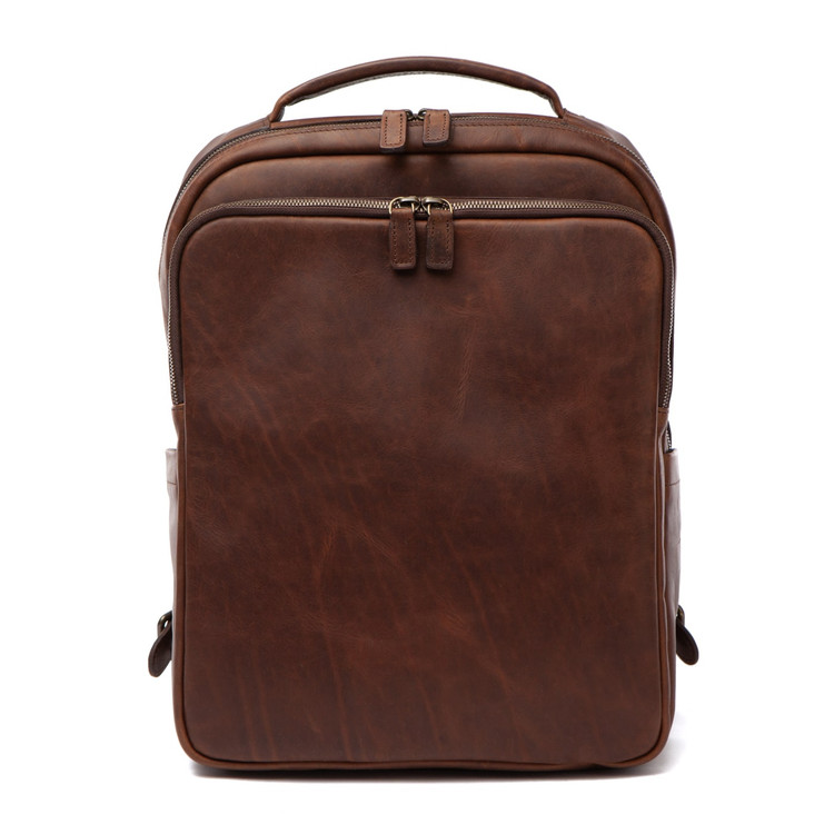 Quinn Commuter Backpack in Baldwin Oak by Moore & Giles