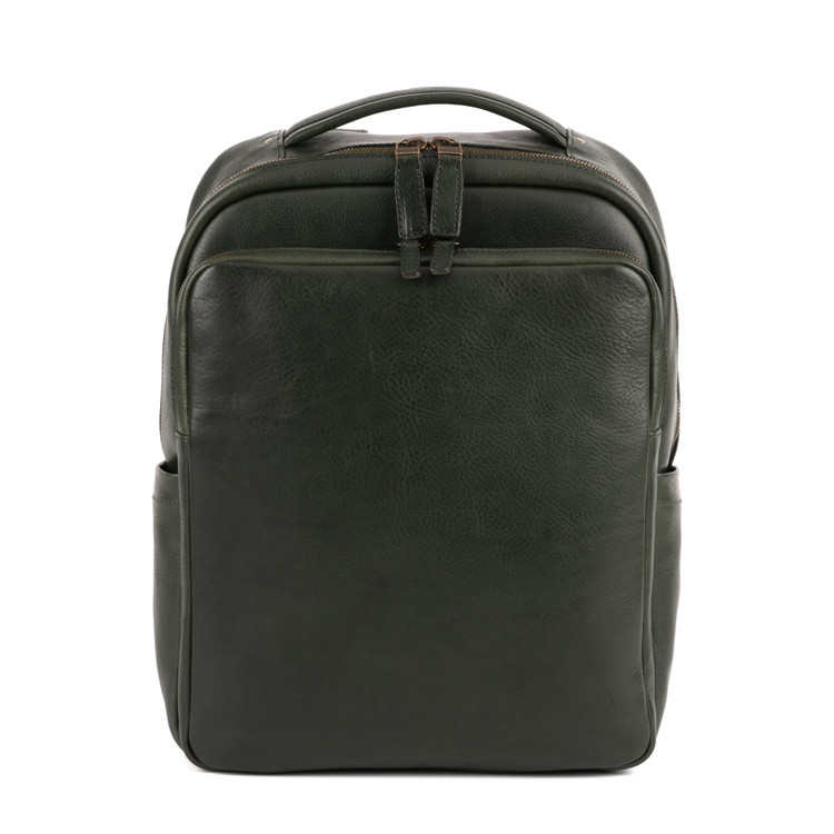 Quinn Commuter Backpack in Nebraska Forest Green by Moore & Giles