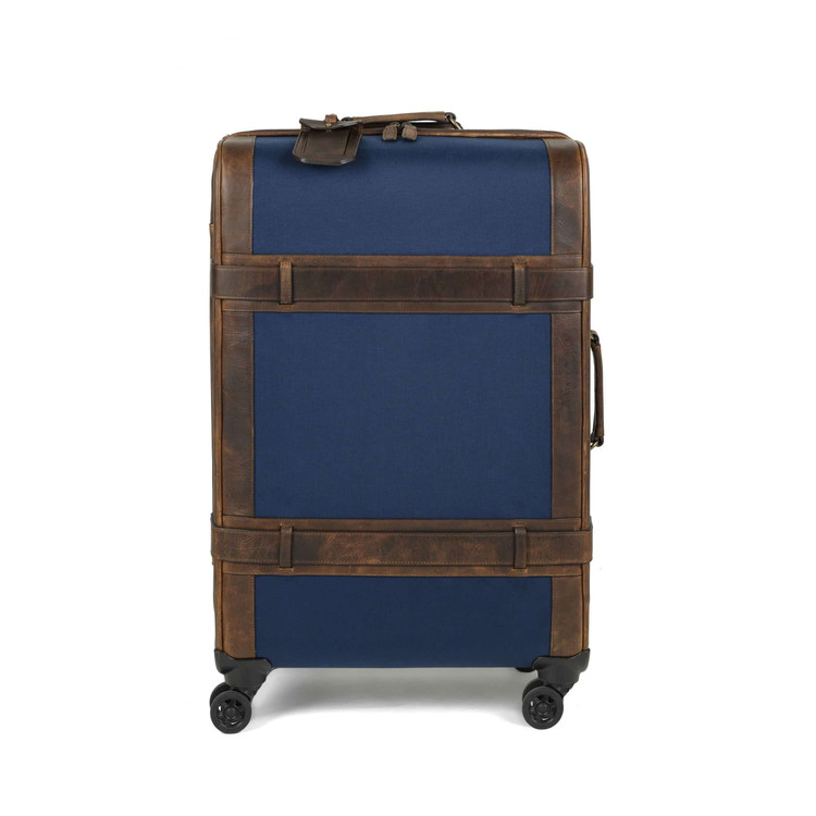 Roger Check-In Roller in Navy &  Baldwin Oak by Moore & Giles