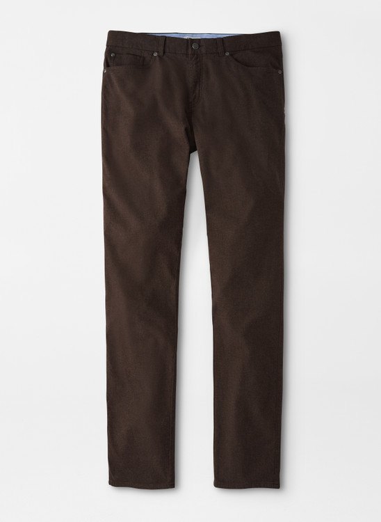 Flannel Five-Pocket Pant in Carob Brown by Peter Millar