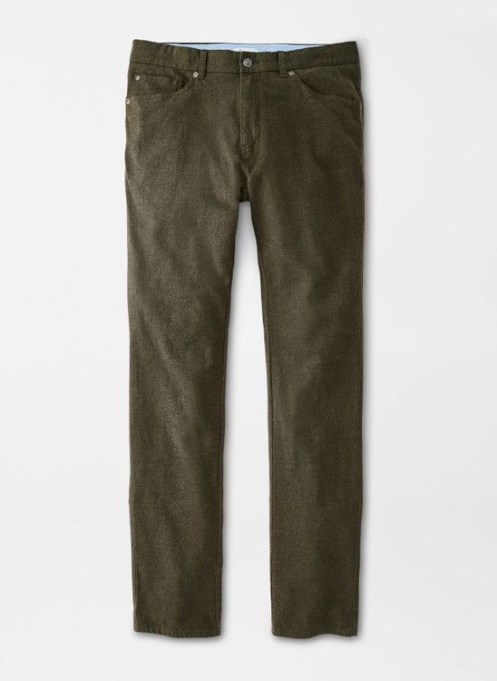 Flannel Five-Pocket Pant in Loden by Peter Millar