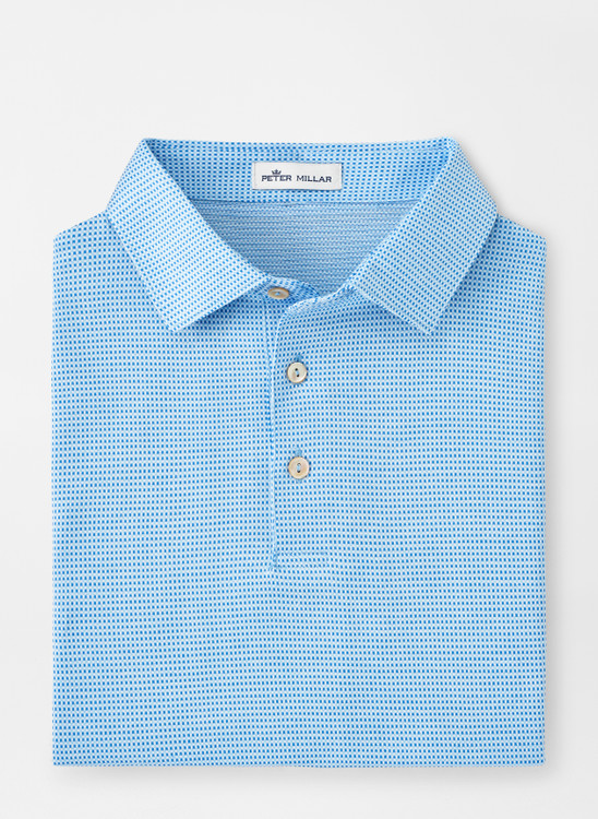 Beaumont Cotton Polo in Frost Blue by Peter Millar