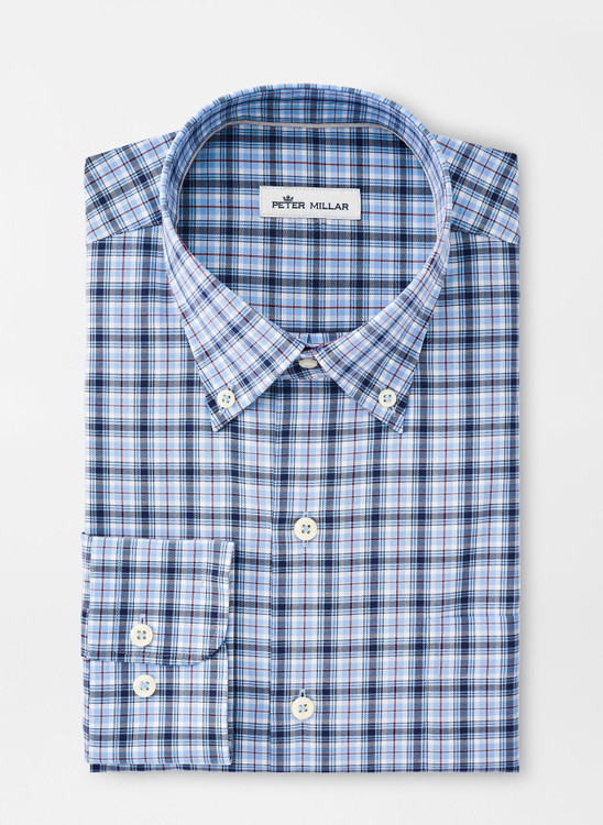Crown Ease Douglas Sport Shirt in Cottage Blue by Peter Millar