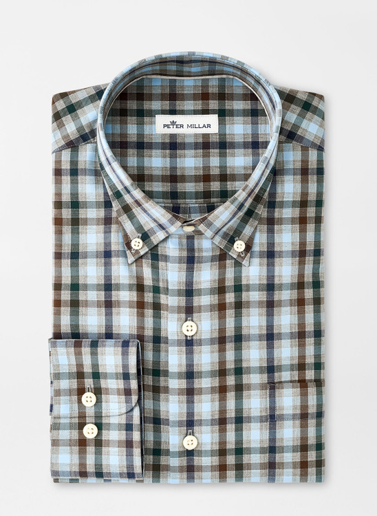 Crown Ease Phillip Sport Shirt in Gale Grey by Peter Millar