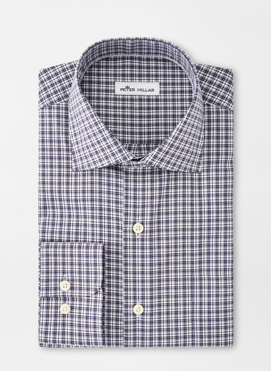 Crown Ease Curtis Sport Shirt in Navy by Peter Millar