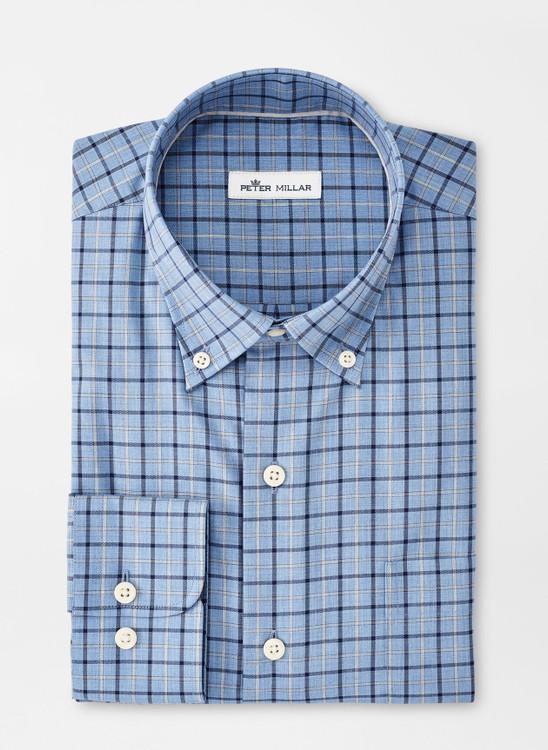 Crown Ease Edward Sport Shirt in Cottage Blue by Peter Millar
