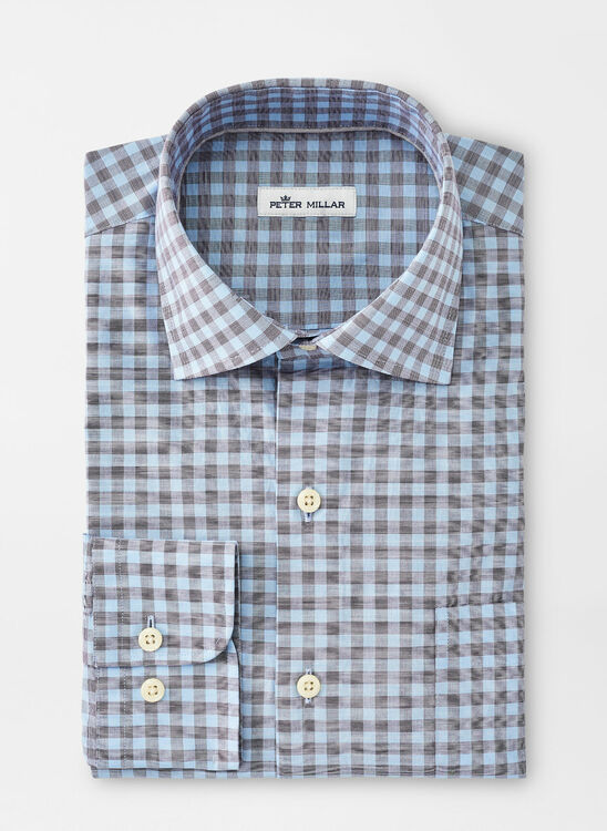 Felix Cotton-Blend Sport Shirt in Cottage Blue by Peter Millar