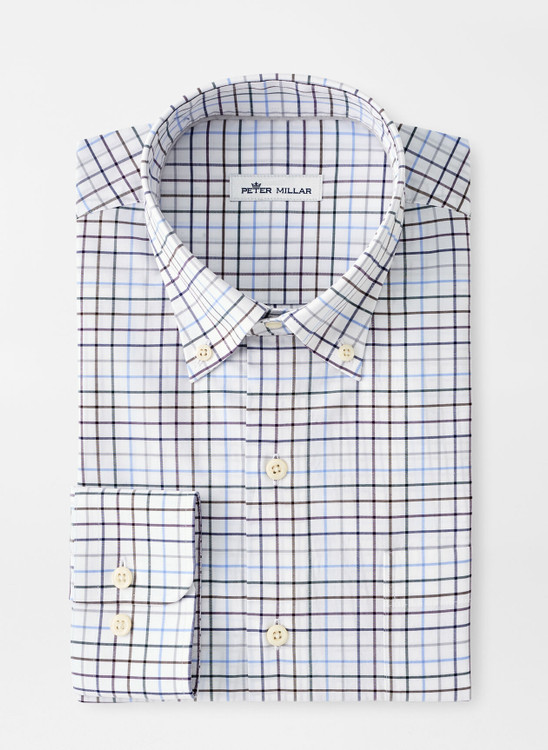 Simon Cotton-Blend Sport Shirt in Navy by Peter Millar