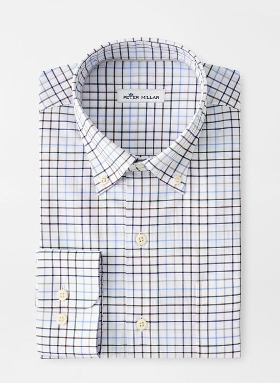 Simon Cotton-Blend Sport Shirt in Navy by Peter Millar