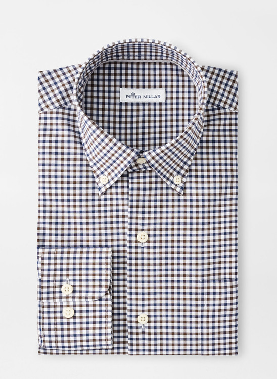 Ferdinand Cotton-Blend Sport Shirt in Navy by Peter Millar