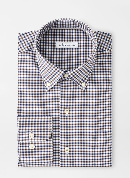 Ferdinand Cotton-Blend Sport Shirt in Navy by Peter Millar