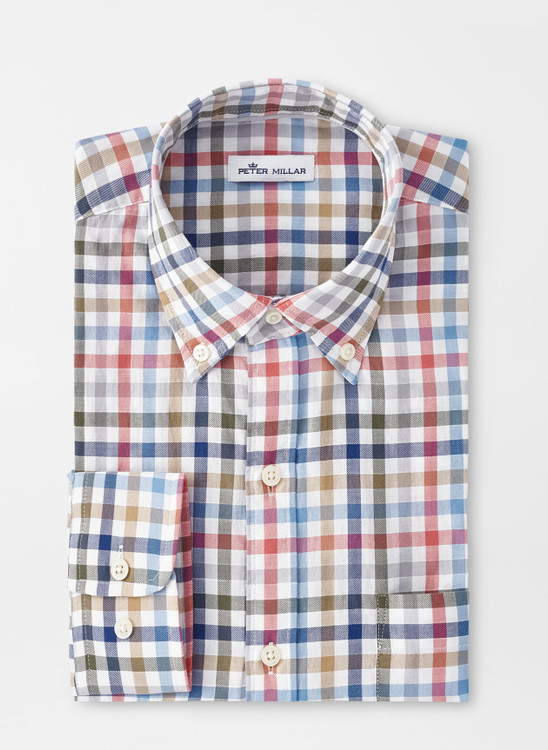 Devonport Cotton Sport Shirt in Multi by Peter Millar