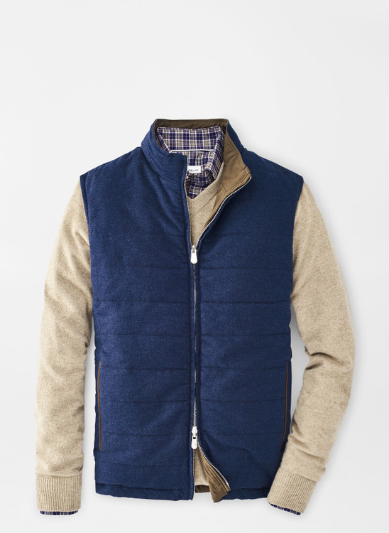 Reversible Flannel Vest in Atlantic Blue by Peter Millar