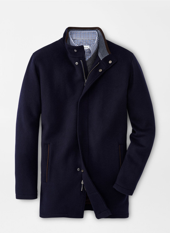 Crown Flex-Fleece City Coat in Navy by Peter Millar