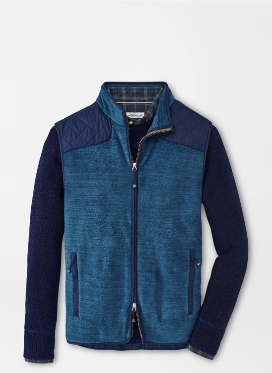 Sherpa Fleece Vest in Deep Sea by Peter Millar