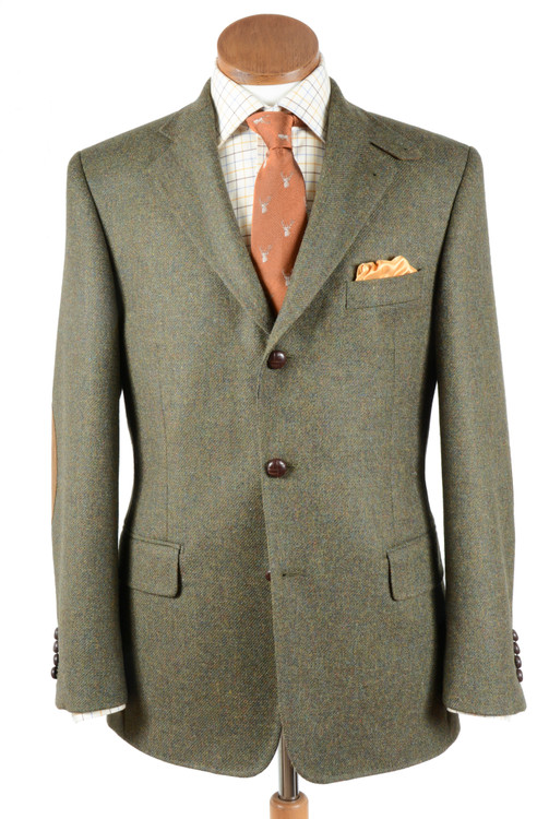 Hansen's Exclusive Plain Weave Moss Tweed Sport Jacket by Bookster Tailoring