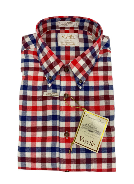 Fall Red Limited Edition Luxury Button-Down Sport Shirt by Viyella