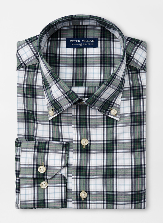 Oliver Natural Touch Sport Shirt in Conifer by Peter Millar