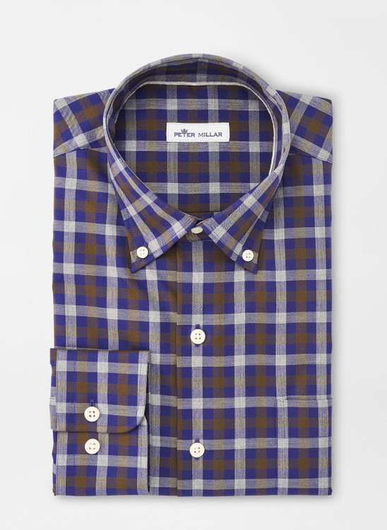 Crown Ease Patton Sport Shirt in Navy by Peter Millar