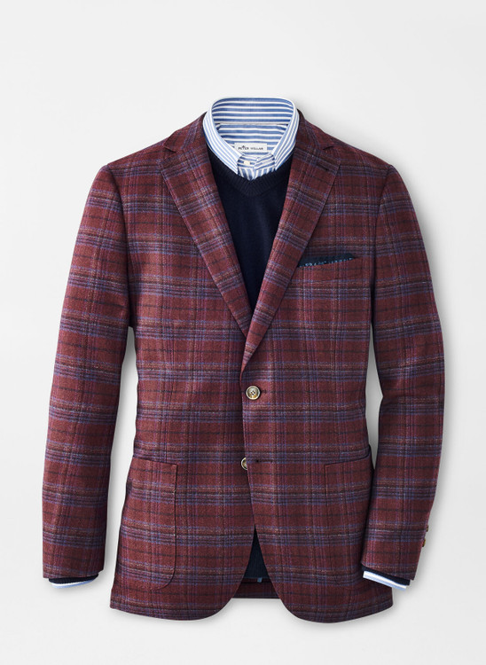 Autumn Plaid Soft Jacket in Currant by Peter Millar