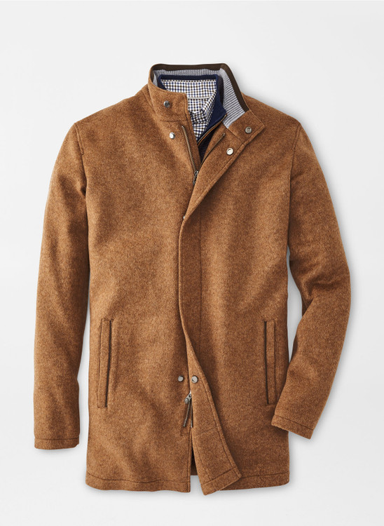Crown Flex-Fleece City Coat in Scotch by Peter Millar