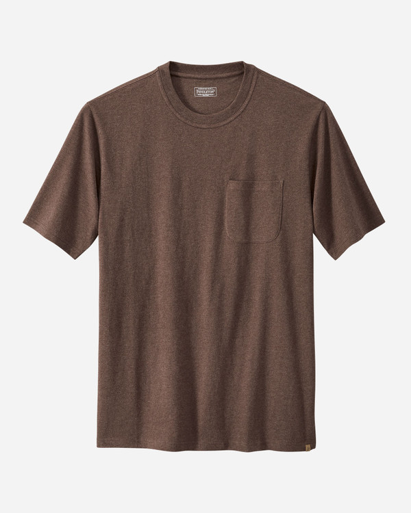 Short-sleeve Deschutes Pocket Tee in Brown Heather by Pendleton