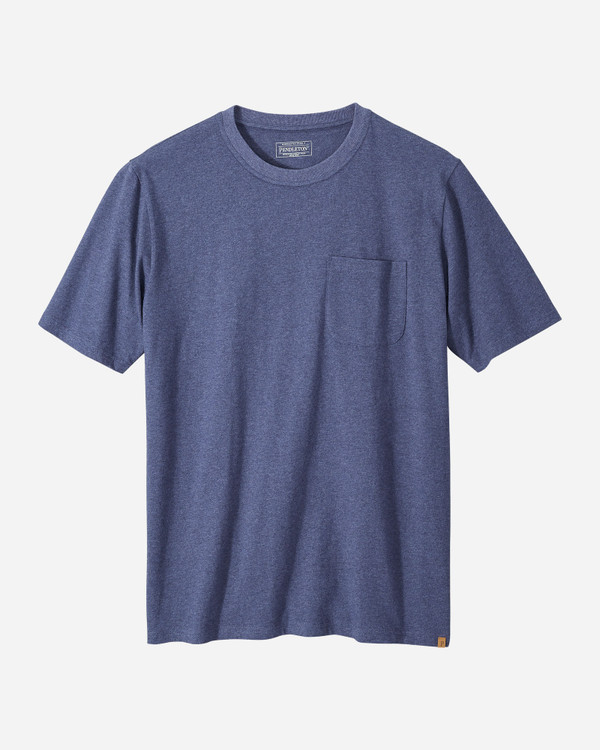Short-sleeve Deschutes Pocket Tee in Navy Heather by Pendleton
