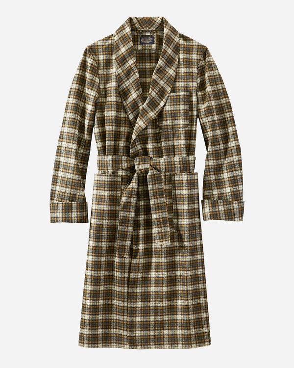 Washable Whisperwool Lounge Robe in Campbell Tartan by Pendleton