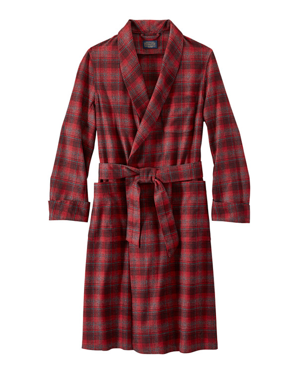 Washable Whisperwool Lounge Robe in Red Ombre by Pendleton