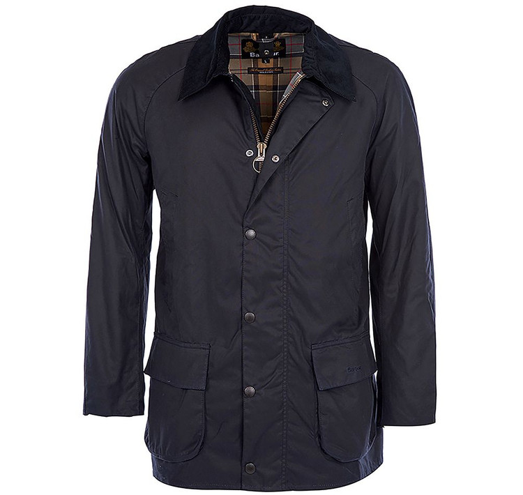 Bristol Wax Jacket in Navy by Barbour